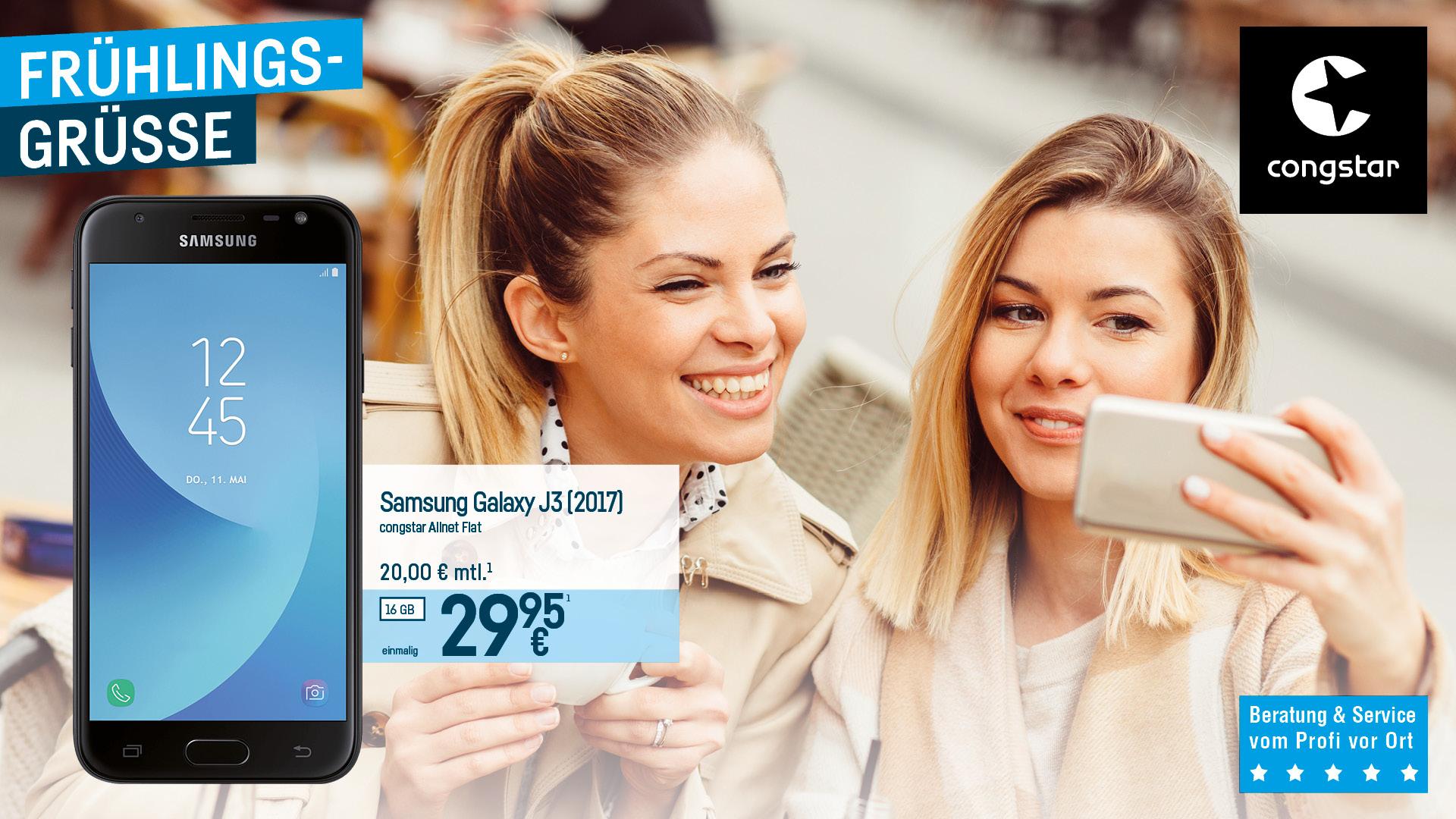 Congstar - Samsung J3 2017 Smartphone